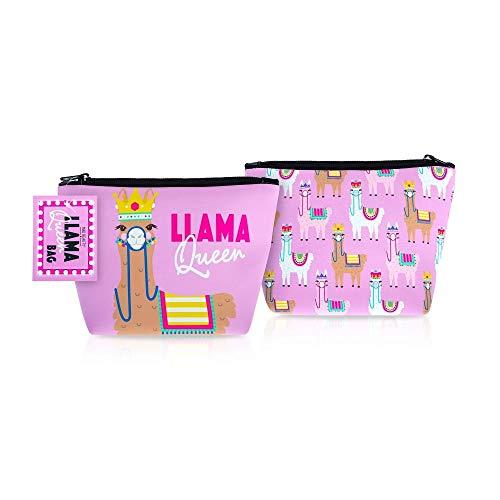 Mad Beauty Llama Queen Sac Cosmétique - Lot de 8, Rose