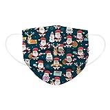 50/100 bandanas de Navidad desechables de dibujos animados, impresión a color, vacaciones, textura brillante y bonita, funda protectora de tres capas, para Navidad y adultos