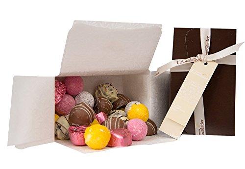 Schokoladengeschenk - Ballotinschachtel mit 24 klassischen Champagnertrüffel |Schokoladen Geschenke|