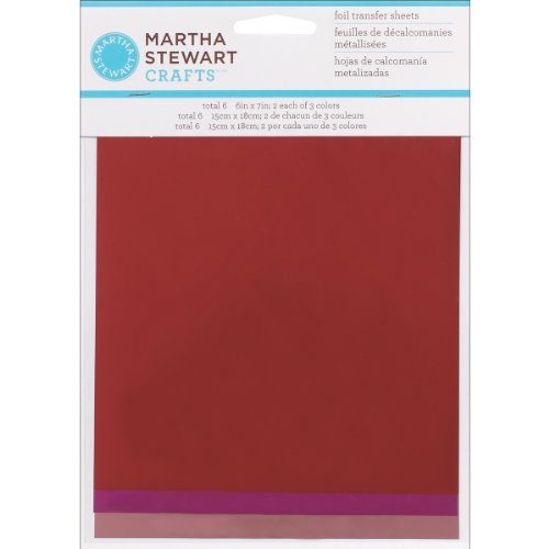Martha Stewart Crafts Foil Sheets, (6 by 7-Inch), 32210 Tropical Red, Hot Pink & Light Pink
