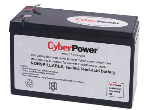 CyberPower RB1280 Cartucho de batería de Repuesto, sin Mantenimiento, instalación por el Usuario