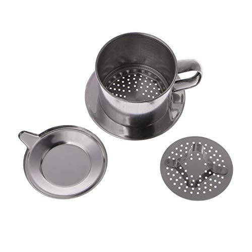 Filtros de Café, 1 unids fabricante de acero inoxidable maceta infusión de la taza de acero inoxidable de acero de la mano del filtro de café de la mano del filtro de café vietnamita que sirve delicio