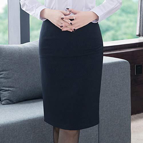 Kilts Skirt Elegant Women's Pencil Skirt OL Style Plus Size High Waist Knee Length Work Office Bodycon Skirt M Blue