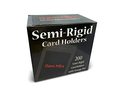 200ct Semi Rigid Card Holders #1 - Grading Submission Size - Gem Mint Supplies