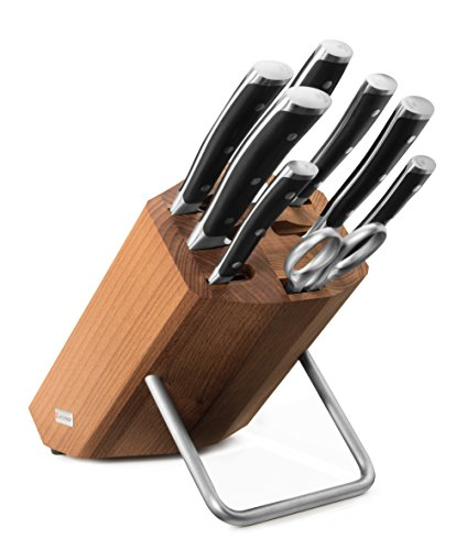 Wusthof Classic Ikon 8 Piece Knife Block Set Black