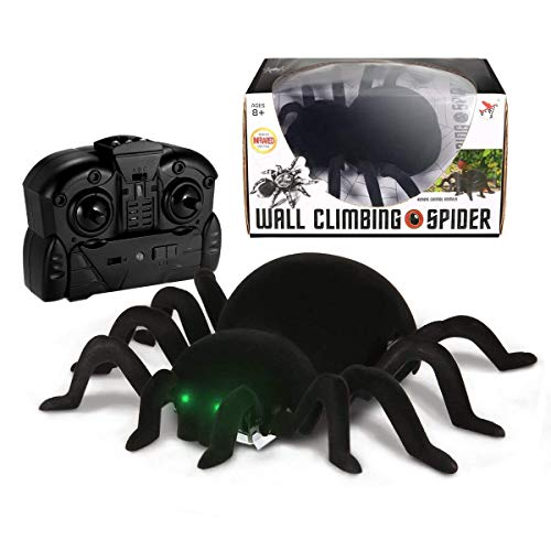 MECO Spider Scary Toy Wall Climbing Remote Control Realistic RC Prank Spider Holiday Halloween Christmas Children's Day April Fools Day Gift Model