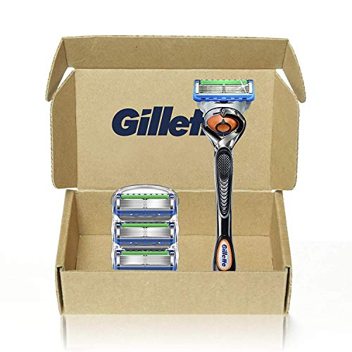 Gillette Fusion5 Proglide Men's Razor Handle + 4 Blade Refills
