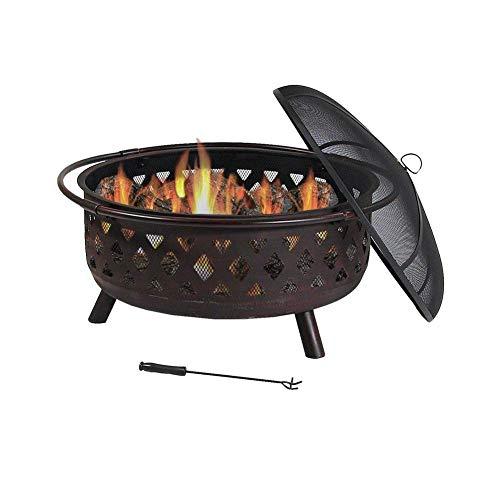 SEESEE.U Cuenco al Aire Libre Horno de leña Grande Jardín Leña Estufa de carbón Parrilla de carbón Brazier Party Campfire Rack