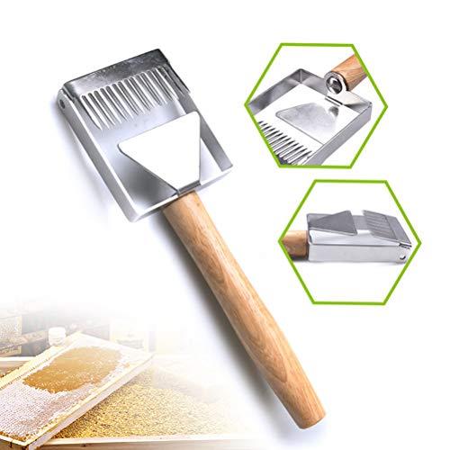 Honing ontdekkingsgereedschap, honing ontdekkingsvorkmes-imkerei schraper gereedschap roestvrij staal houten handvat