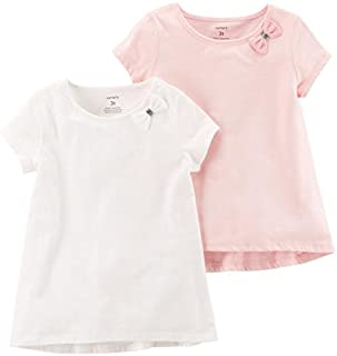 Carter's Baby Girls' 2-Pack Bow Tees