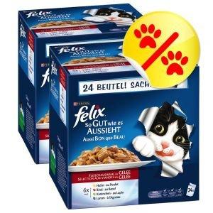 FELIX So gut wie es aussieht Fleisch Mix Doppelpack 2 x 24 Stck. Katzenfutter von PURINA