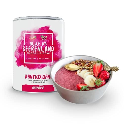 Oatsome Smoothie Bowl Acai & Erdbeere - Frühstück Pulver für vegane Ernährung - 1min Zubereitung - 100% natürlich, ohne Zusatzstoffe und raffinierten Zucker (Alice im...