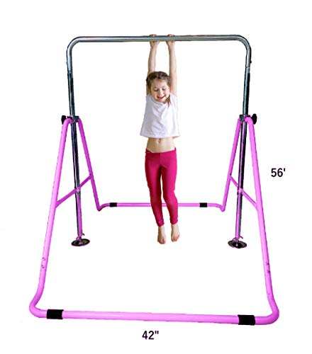 Kids Jungle Gymnastics Expandable Junior Training Monkey Horizontal Bars Climbing Tower Child...