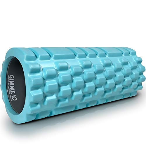 Gimme 10 Foam Roller for Deep Tissue Massager for Muscle and Myofascial Trigger Point Release - Turquoise