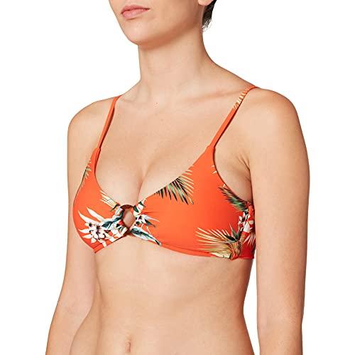 Seafolly Ocean Alley Ring Front Bralette Reggiseno Bikini, Arancione, 46 (Taglia Produttore:) Donna