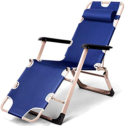 Olding Zero Gravity ligstoelen Tuin ligstoelen, Ideal of indoor en outdoor, camping, strand, tuin, terras, balkon, etc. (Kleur: Roze) zhihao (Color : Blue)