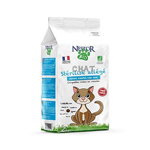 Nestor Bio - Croquettes Bio Allégées pour Chat Stérilisé - 2kg