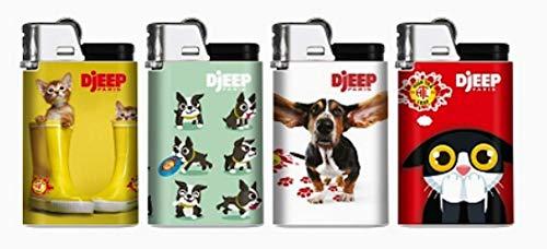DJEEP Feuerzeug Cats n Dogs Serie, 4 Stück