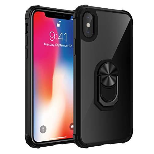 Nniter - Funda para iPhone 7 Plus/8 Plus (ultrafina, silicona, TPU y policarbonato, 2 en 1, amortiguación de golpes, 360°) iphone 7 Plus/8 Plus Negro