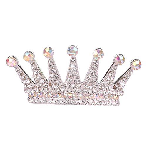 Lurrose tiara de cristal peine pequeña princesa retro corona peine del pelo...