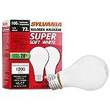 SYLAVNIA Halogen Dimmable Lamp / Replacing A19 100W Halogen Bulb Super Soft White / Medium Base E26 / 72 Watt / 2900 K – warm white, 2 Pack