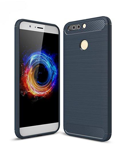 SMTR Huawei Honor 8 PRO 5.7' Cover, Slim Materiale del Silicone Ultra Sottile [Massima Protezione Urti][Design Meccanica Durevole] per Huawei Honor 8 PRO 5.7' - Blu