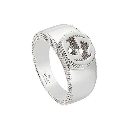 Gucci Anillo interlocking plata talla 17 ybc479228001017