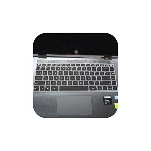 Siliconen Keyboard Protector Skin Cover Voor Hp Pavilion X360 14 Ba078Tx 14 Ba063Tx Ba064Tx 2017 Nieuwe 14 Inch Touch Laptop Toetsenbord Eén maat Zwart