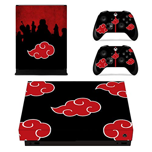Decal Moments Xbox One X Console Controllers Skin Vinyl Skins Sticker Decals Cover for XB1 X Red Cloud