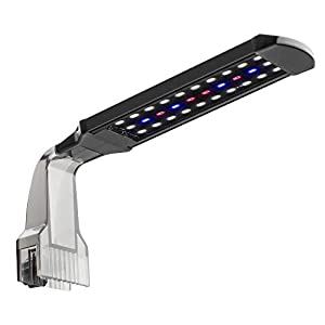 NICREW Aquarium Clip-on Light, Fish Tank Light with White, Blue and Red LEDs, 2 Lighting Modes, 10W