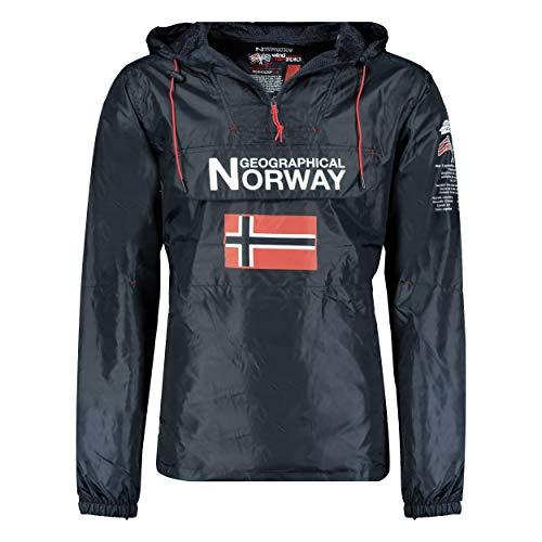 Geographical Norway BUTAGAZ MEN - Chaqueta cortavientos Hombre (MARINA, XXL)