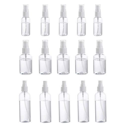 Heritan 15Ps 30/50/100Ml atomizador plástico transparente del perfume vacío botella brumosa