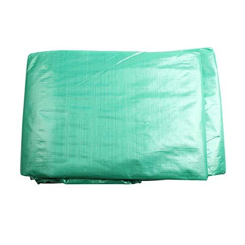 Plane waterdicht dik slijtvast zeil groen met perforaties kan worden gebruikt om tuinmeubelen, camping en dakbedekkingen te bedekken. 10 x 12 m.