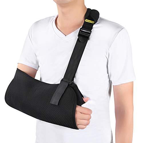 Armschlinge Schulter Bandage, Schulterschlinge Gepolstert mit Hüftgurt für Gebrochenen Arm, Handgelenk, Ellenbogen, Schulterverletzungen für Damen und Herren, linkes oder rechts Arm