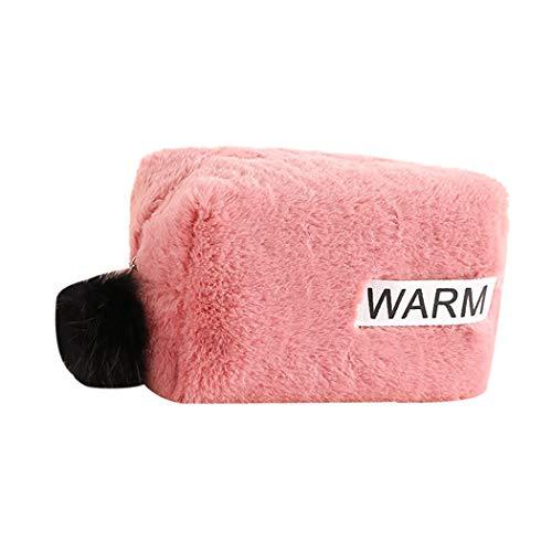 Cosmetische tas Creatieve Mode Multiuse Koppeling Make-up Tas Toilettas Verander Tas roze