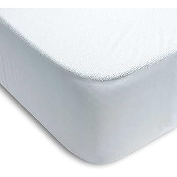 PROTECTOR DE COLCHÓN RIZO ALGODÓN 100% PVC AJUSTABLE (105_x_200_cm (CAMA CUERPO Y MEDIO)): Amazon.es: Hogar