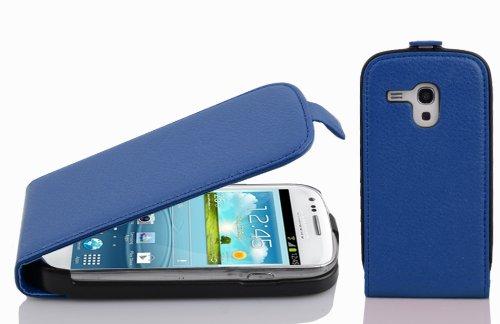 Cadorabo Hülle für Samsung Galaxy S3 Mini - Hülle in KÖNIGS BLAU – Handyhülle aus Strukturiertem Kunstleder im Flip Design - Case Cover Schutzhülle Etui Tasche