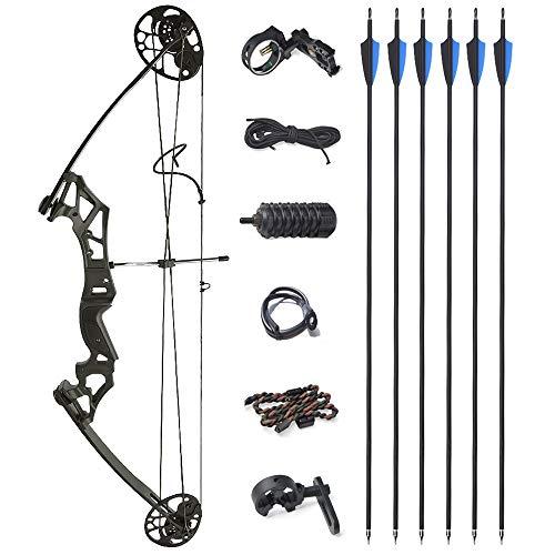 ZSHJGJR Complete Compound Bow Arrow Package Set 35-50lbs Aluminum...