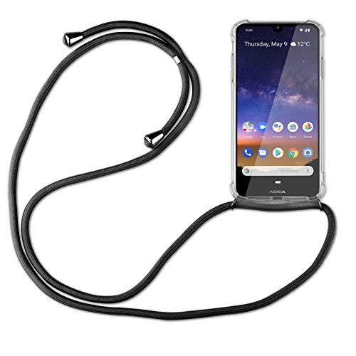 betterfon   Handykette kompatibel mit Nokia 2.2 Smartphone Necklace Hülle mit Band - Schnur mit Hülle zum umhängen in Schwarz