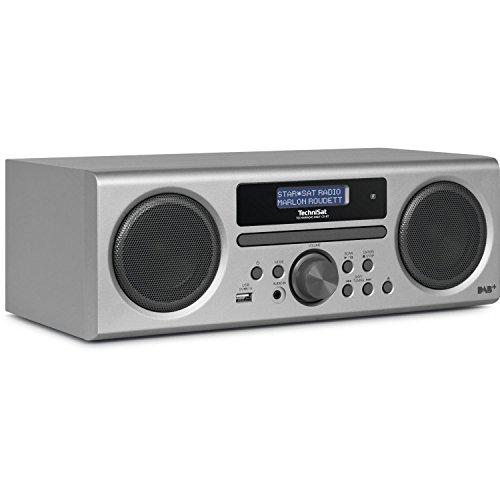 TechniSat TECHNIRADIO Digit CD BT Digital 10W Silber - Tragbare Stereosysteme (Digital, DAB,DAB+,FM, 87,5-108 MHz, Spieler, CD,CD-R,CD-RW, Skip down, Skip up, Stopp)