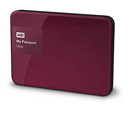 Abbildung Western Digital My Passport Ultra 1 TB Externe Festplatte (bis zu 5 Gb/s, USB 3.0) wildkirsche