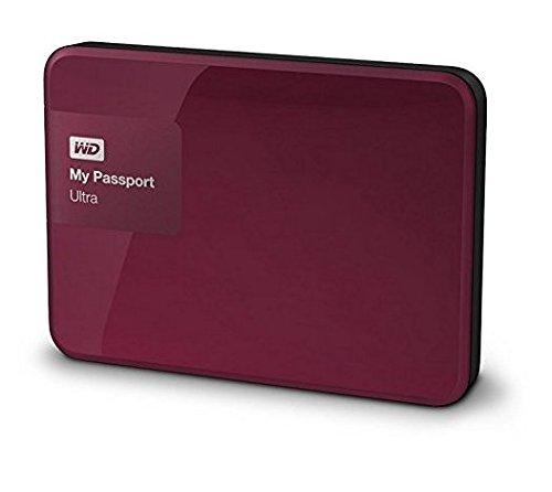 Western Digital My Passport Ultra 1 TB Externe Festplatte (bis zu 5 Gb/s, USB 3.0) wildkirsche