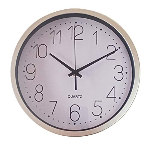 TETI`S Ducks Home - Reloj de Pared clásico, con números Grandes, diámetro Ø 25 cm. Decorativo para el hogar/la Cocina/la Oficina/la Escuela, fácil Leer. (Blanco)