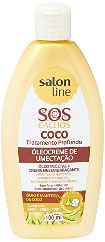 Salon Line - Linha Tratamento (SOS Cachos) - Oleocreme de Umectacao Coco 100 Ml - (Salon Line - Treatment (SOS Curls) Collection - Moisturizing Coconut Oilcream 3.38 Fl Oz) - Haarpflege