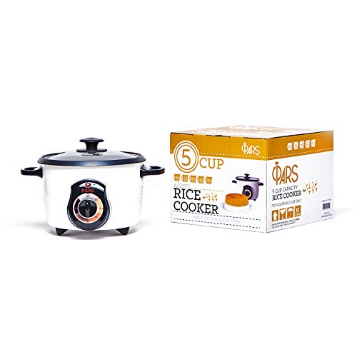 Pars Automatic Persian Rice Cooker - Tahdig Rice Maker Perfect Rice Crust, 5 Cup