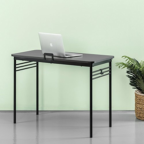 Zinus Connie Metal Framed Desk in Espresso