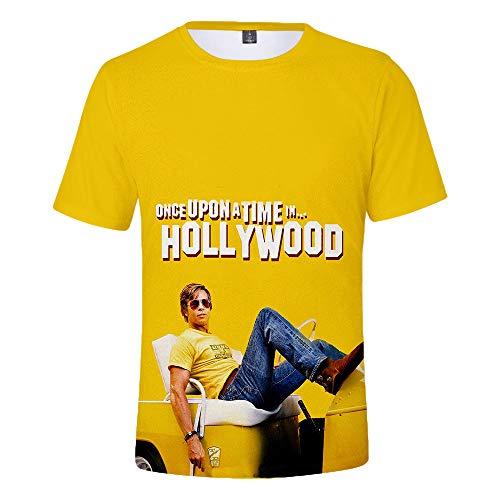 Unisex Once Upon A Time In Hollywood Camisetas Camiseta for niños Cuello Redondo Camiseta Casual Estilo Callejero Camisetas de Manga Corta Tshirt
