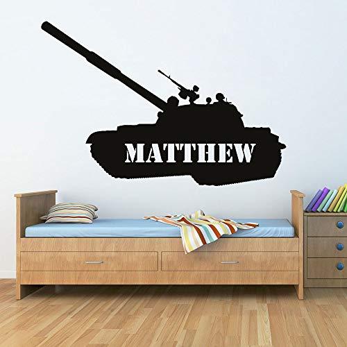 Des Jungen Persönlichkeit Tank Wandtattoos benutzerdefinierte Rüstung militärische Vinyl Wandaufkleber Kinderzimmer Dekoration abnehmbare Poster