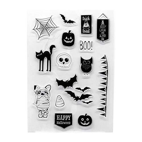 Halloween, transparante zegel, stempel, scrapbooking, reliëf, fotoalbum, decoratie, handwerk, doe-het-zelf kunst