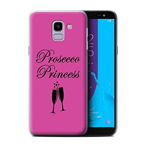 Stuff4®®®®®®®®®®®®®®®® Phone Case/Cover/Skin/SGJP-CC/Prosecco Fashion Collection Samsung Galaxy J6 2018/J600 Prosecco Princess/glas